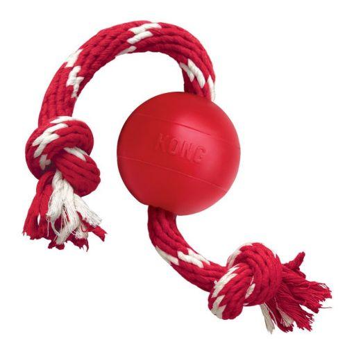 KONG Ball mit Seil  S  6,5 cm, Seillänge 40 cm