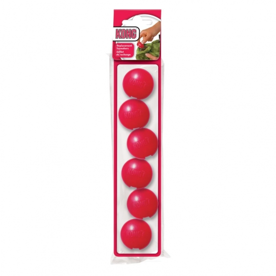 KONG Plush Squeakers S, rot  6er Pack