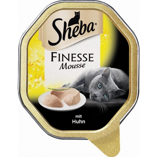 Sheba Schale Finesse Mousse mit Huhn 85g (Menge: 22 je Bestelleinheit)