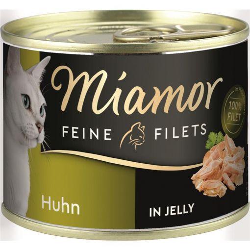 Miamor Feine Filets Huhn in Jelly 185g Dose (Menge: 12 je Bestelleinheit)