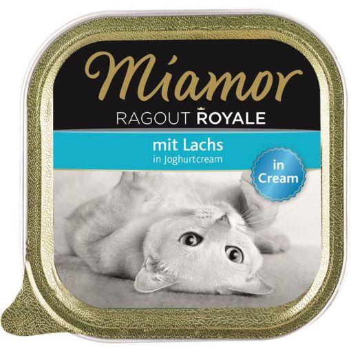 Miamor Schale Ragout Royale Cream Lachs in Joghurtcream 100 g (Menge: 16 je Bestelleinheit)