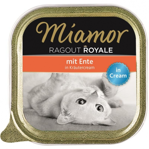 Miamor Schale Ragout Royale Cream Ente in Kräutercream 100 g (Menge: 16 je Bestelleinheit)