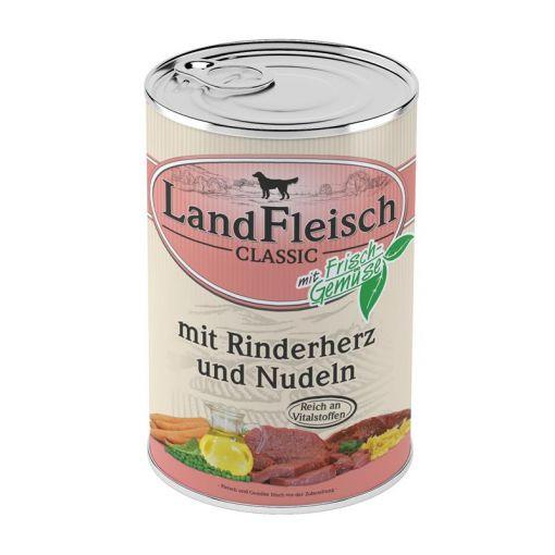 Landfleisch Dog Pur Rinderherzen & Nudeln 400 g (Menge: 12 je Bestelleinheit)