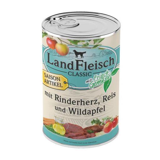 Landfleisch Dog Pur Rinderherz, Reis & Wildapfel 400g SAISONARTIKEL (Menge: 12 je Bestelleinheit)
