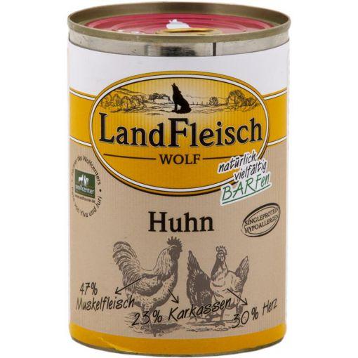 LandFleisch Wolf 100 % Fleisch vom Huhn 400 g (Menge: 12 je Bestelleinheit)