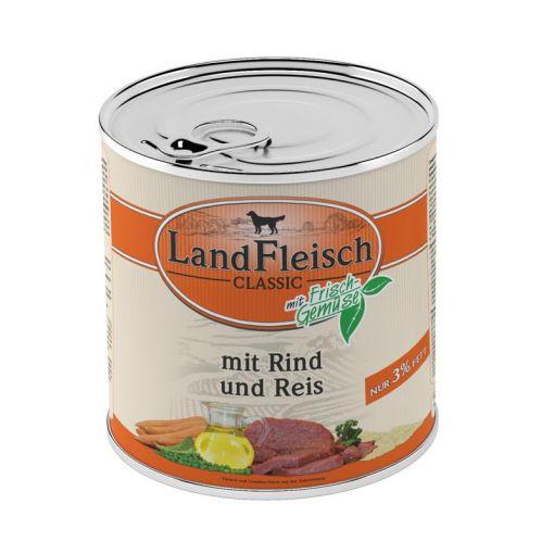 Landfleisch Dog Pur Rind & Reis extra mager 800 g (Menge: 6 je Bestelleinheit)