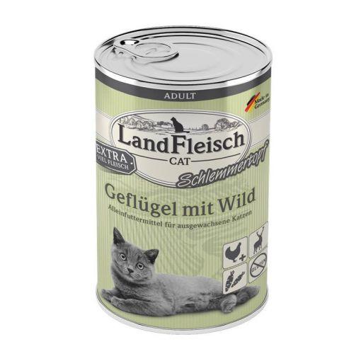 LandFleisch Cat Adult Schlemmertopf Geflügel & Wild 400 g (Menge: 6 je Bestelleinheit)
