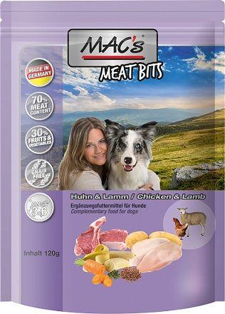 MACs Dog Meat Bits Huhn & Lamm 120g (Menge: 9 je Bestelleinheit)
