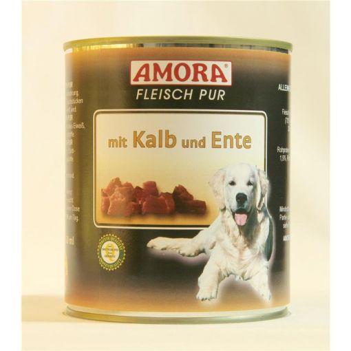 AMORA Dog Fleisch pur getreidefrei Kalb & Ente 800g (Menge: 6 je Bestelleinheit)