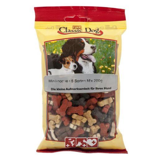 Classic Dog Snack Miniknochen 5 Sorten Mix 200g (Menge: 12 je Bestelleinheit)
