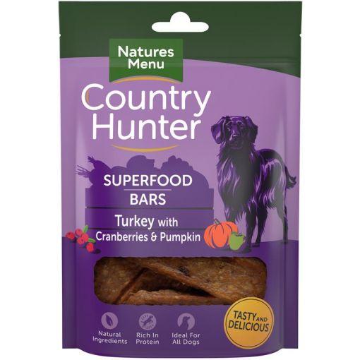 Country Hunter Dog Snack Superfood Bars Pute mit Preiselbeeren und Kürbis 100g (Menge: 7 je Bestelleinheit)