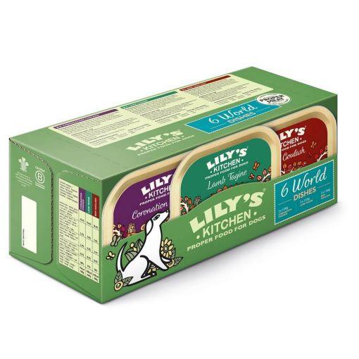 Lilys Kitchen Dog World Dishes Schalen Multipack (6x150g) (Menge: 4 je Bestelleinheit)