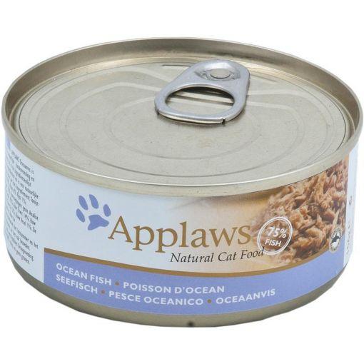Applaws Katzen Nassfutter in der Dose mit Seefisch 156 g (Menge: 24 je Bestelleinheit)