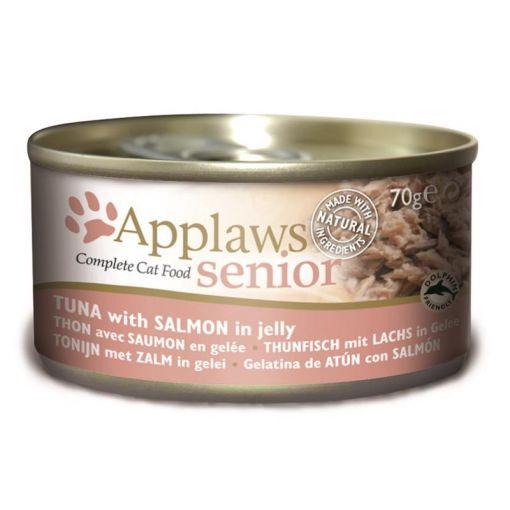Applaws Cat Senior Thunfisch und Lachs im Gelee 70 g Dose (Menge: 24 je Bestelleinheit)