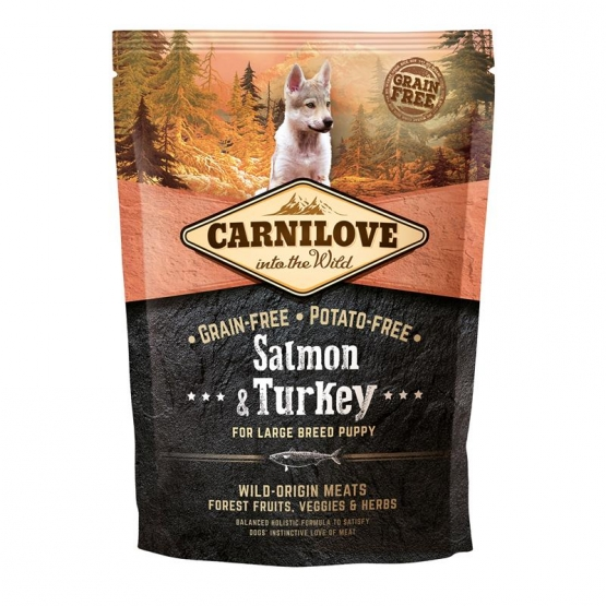 Carnilove Dog Puppy Large Breed - Salmon & Turkey 1,5 kg