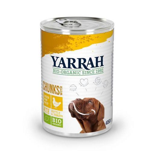 Yarrah Bio Dog Bröckchen Huhn 405g (Menge: 12 je Bestelleinheit)