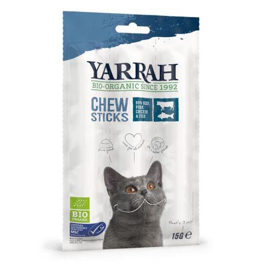 Yarrah Bio Cat Snack getreidefrei Kaustangen Fisch (MSC) 3 Sticks 15g