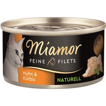 Miamor Dose Feine Filets Naturelle Huhn & Kürbis 80g (Menge: 24 je Bestelleinheit)