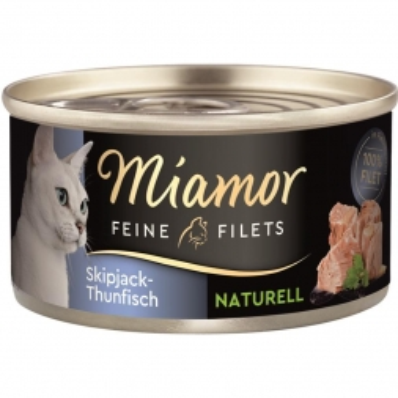 Miamor Dose Feine Filets Naturelle Skipjack-Thunfisch 80g (Menge: 24 je Bestelleinheit)