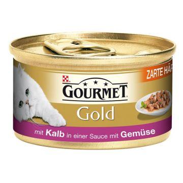 Gourmet Gold Häppchen Sauce Kalb & Gemüse 85g (Menge: 12 je Bestelleinheit)