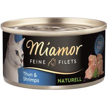 Miamor Feine Filets naturelle Thun & Shrimps 80g (Menge: 24 je Bestelleinheit)