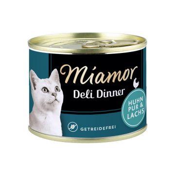 Miamor Dose Deli Dinner Huhn Pur & Lachs 175g  (Menge: 12 je Bestelleinheit)