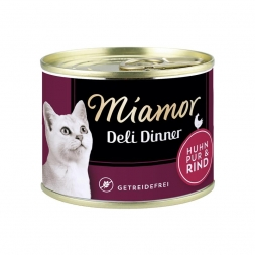 Miamor Dose Deli Dinner Huhn Pur & Rind 175g  (Menge: 12 je Bestelleinheit)