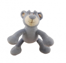 Simply Fido Organic Collection Wally Bear Blue 15cm