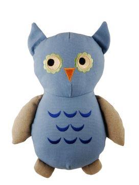 Simply Fido Natural Canvas Big Joe Owl  33cm