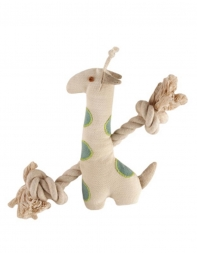 Simply Fido Natural Canvas Little Gable Giraffe  23cm