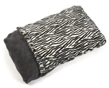 Snuggle Puppy Fleece Pocket Bed Zebra Print 68 X 48cm