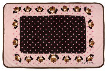 Snuggle Puppy Fleece Blanket Pink 122 X 81cm