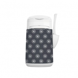 LitterLocker Fashion Stoff-Bezug Flowers grey