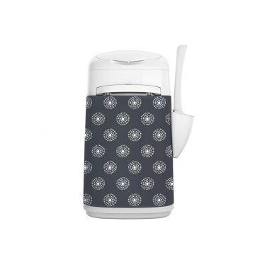 LitterLocker Fashion Stoff-Bezug Flowers grey