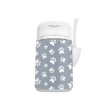 LitterLocker Fashion Stoff-Bezug Cat paws grey
