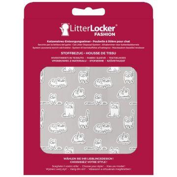 LitterLocker Fashion Stoff-Bezug Paper Cats
