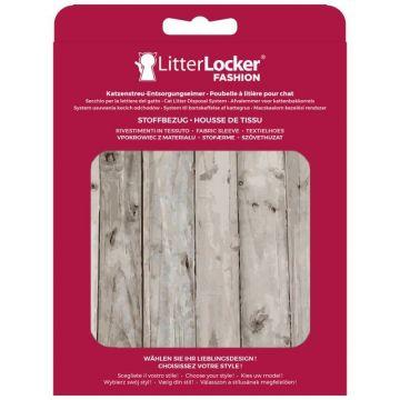 LitterLocker Fashion Stoff-Bezug Wood