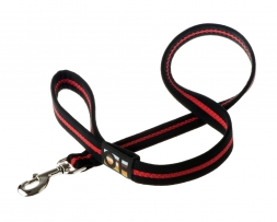 Oscar & Hooch Leine Large 2.5cm x 100cm Black & Red