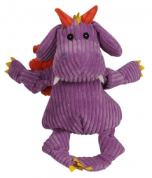 Hugglehounds Knottie with Tuffut Technology Puff The Dragon Purple Large