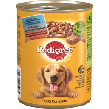 Pedigree Dose Adult 3 Sorten Rind, Lamm, Huhn 400g (Menge: 12 je Bestelleinheit)