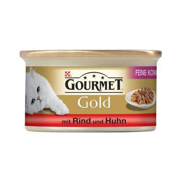 Gourmet Feine Komposition Rind & Huhn 85g  (Menge: 12 je Bestelleinheit)
