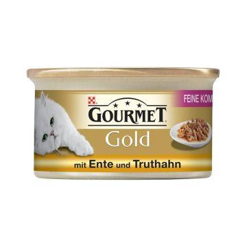 Gourmet Feine Komposition Ente & Truthahn 85g  (Menge: 12 je Bestelleinheit)