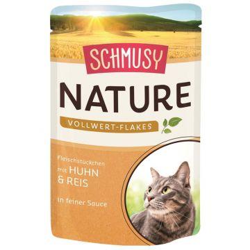 Schmusy Nature Frischebeutel Vollwert-Flakes Huhn & Reis 100g (Menge: 22 je Bestelleinheit)