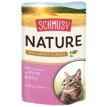 Schmusy Nature Frischebeutel Vollwert-Flakes Pute & Reis 100g (Menge: 22 je Bestelleinheit)