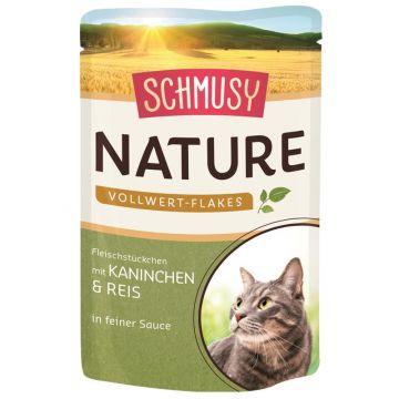 Schmusy Nature Frischebeutel Vollwert-Flakes Kaninchen & Reis 100g (Menge: 22 je Bestelleinheit)