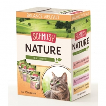 Schmusy Nature Frischebeutel Balance Multibox 12x100g (Menge: 4 je Bestelleinheit)