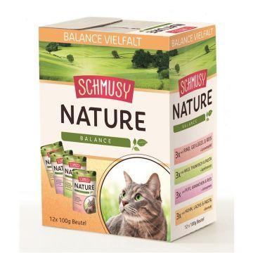 Schmusy PB Nature Balance Multibox 12x100g (Menge: 4 je Bestelleinheit)