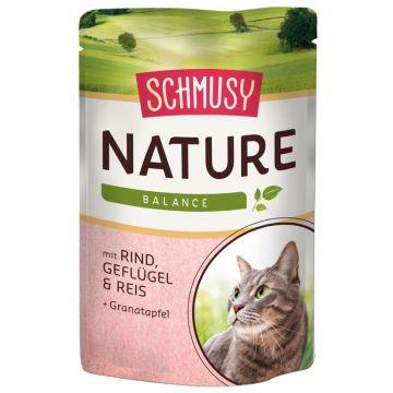 Schmusy Nature Frischebeutel Rind & Geflügel 100g (Menge: 24 je Bestelleinheit)