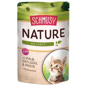 Schmusy Nature Frischebeutel Kitten Kalb 100g (Menge: 24 je Bestelleinheit)