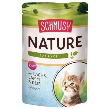 Schmusy Nature Frischebeutel Kitten Lachs 100g (Menge: 24 je Bestelleinheit)